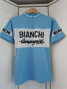 VINTAGE Bianchi Campagnolo Acrylic Cycle Jersey - Size -XS