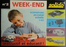 SOLIDO 1/43 - Boîte WEEK-END N° 2 - FORD THUNDERBIRD Caravaning, série 100