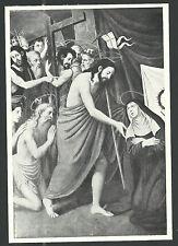 Lamina antigua Jesus y los Santos del Limbo andachtsbild santino holy card