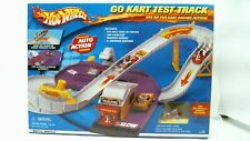 2000 Hot Wheels Go Kart Test Track w/Orange Go Kart