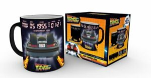 OFFICIAL BACK TO THE FUTURE DELOREAN HEAT CHANGING MAGIC MUG COFFEE CUP GB