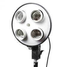E27 4 in1 Socket Photo Video Studio Lamp Light Bulb Head Umbrella Bracket Holder