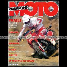 MOTO CRAMPONS N°16 PETERHANSEL PEUGEOT 125 XLC YAMAHA DTMX XT HONDA MTX XLS 1986