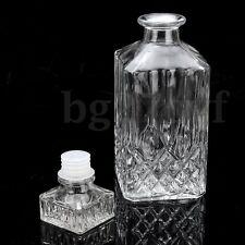 800ml Glass Liquor Whiskey Wine Crystal Bottle Drink Decanter Carafe Stopper