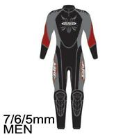 Tilos Men's 7/6/5mm Zenith Supreme Stretch D-Zip Fullsuits