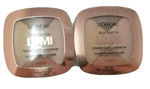 2 Loreal True Match Lumi Powder Glow Illuminator Blush Highlight W102 Golden New