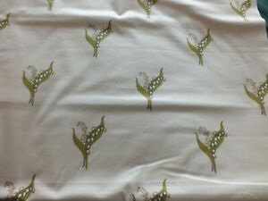 Vintage Laura Ashley Fabric - Lily of the Valley 2m x 116cm