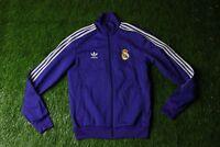 REAL MADRID SPAIN FOOTBALL TRACK TOP JACKET TRAINING ADIDAS RETRO REPLICA SIZE M