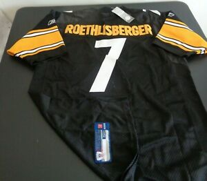 BEN ROETHLISBERGER Pittsburgh STEELERS Football Sewn REEBOK Jersey NEW Size 50