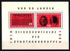 GERMANIA - DDR - BF - 1966 - 50° della conferenza del Gruppo Spartacus