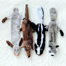 4pcs No Stuffing Plush Dog Toy Indestructible Pet Sound Chew Squeaker Squeaky