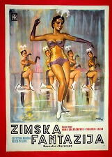 WINTER FANTASY 1960 RUSSIAN MUSIC ICE FIGURE SKATING VERY RARE EXYU MOVIE POSTER