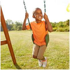 NEW Green Swing Seat Slide Kids Child Fun Yard Garden Gift Playset Belt Plastic