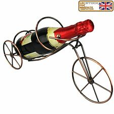 Amazing New Style Copper Wine Bottle Holder Bicycle Design Strong Wine Rack