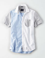 AE COLORBLOCK OXFORD BUTTON-DOWN SHIRT Multi Color Block Size XS