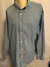 Mens Dockers Long Sleeve Button Down Pocket Shirt Blue size L Large