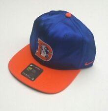 Nike Denver Broncos NFL Team Apparel Throwback Satin Snapback Hat  Blue orange a0600cded8a4