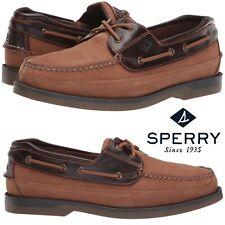 Sperry Top-Sider Mako 2-Eye Canoe Moc Shoes Work Comfort Leather Walking WIDE