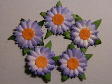 50+ LAVENDER Paper DAISIES MPFF6::  23mm Scrapbook Craft Card Embellishments