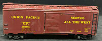 WOOD / STEEL UNION PACIFIC UP 184241. BROWN BOXCAR.  VINTAGE HO SCALE H0