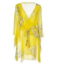 New Malo Floral silk chiffon Kaftan Top Kimono S made in Italy milly