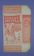 Original c1930's Unused Circus Popcorn Box -  Elephants, Acrobat / Trapeeze