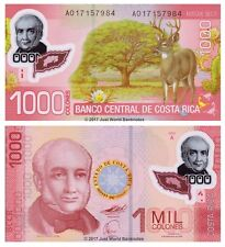 Costa Rica 1000 Colones 2009 (2011) Polymer First Prefix  P-274 Banknotes UNC