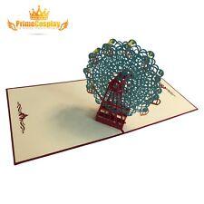 New 3D Pop Up Valentine Greeting Card Love Anniversary Ferris Wheels Gift, USA