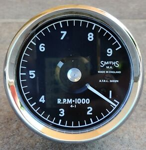 SMITHS ATRC TACHOMETER 9000 NORTON MANX, G50, 7R. TOTALLY REMADE RATIO 1:4