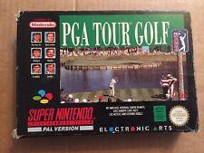 SUPER NES SNES PAL PGA TOUR GOLF BOXED  INST FREEPOST UK