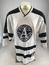 Vintage 90's Official All-Star Cafe Las Vegas Embroidered Hockey Jersey Blk/Wht