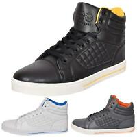 Mens Trainers Lace up Crosshatch High Tops Ankle Padded Shoes New UK Sizes 7-12