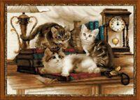 """New Cross Stitch Kit RIOLIS """"Furry Friends"""" Cat"""