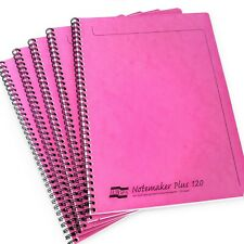 10x Clairefontaine Europa Notemaker Plus Wiro Notebook - A4+ - 120 Pages - Pink