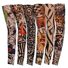 6PCS Tattoos Arm Sleeves Cooling Cover UV-Sun Protection Basketball Golf Sport