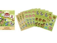 111 Farm Stickers Party Favors Teacher Supply book 9 sheets Cow pig chicken duck