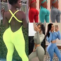 Women Yoga Suit Sports Bra Tank Top Leggings Pants Leggings Fitness Set Jumpsuit