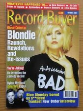 RECORD BUYER MAGAZINE OCTOBER 2001 BLONDIE COVER NEW ORDER INTERVIEW