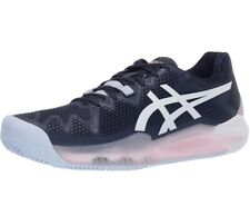 Womens Asics Gel Resolution 8 Navy and Pink Clay Court tennis Shoes 9.5