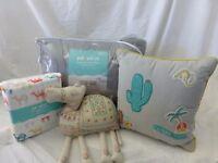 9 pc Pillowfort Egyptian Embroidery Full Comforter Bedding Set NIP