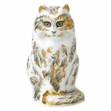 New Royal Crown Derby 1st Quality Fifi Cat Paperweight