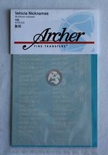 Archer 1/35 US Generic Vehicle Nicknames (enough for 38 vehicles) AR35200