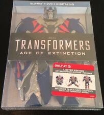 TRANSFORMERS AGE OF EXTINCTION Blu Ray Target Exclusive AOE Optimus Prime Rare
