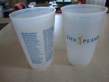 2 plastic drink cups from TPC Sawgrass FL The Players Championship 2018
