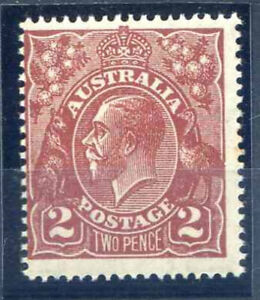 Australia 2d Bright Red Brown SG78a Unmounted Mint