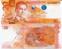 PHILIPPINES 20 PESOS 2014 P 206 UNC