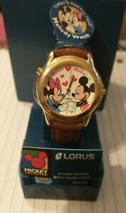 MInnie & Mickey unlimited Disney Lorus Melody Watch Works 2002 serial numbered