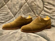Meermin Green Suede Captoe Oxford 101455 UK 7.5/US 8.5 / Like Carmina