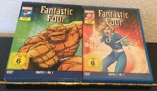 2 DVD Boxen MARVEL Sammlung FANTASTIC FOUR - STAFFEL 1 & 2 mit 13 Folgen
