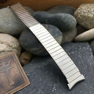 Bulova Stainless Steel Expansion nos 16mm 18mm 19mm 1970s Vintage Watch Band